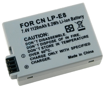 Canon 550D/T2i Aftermarket Battery