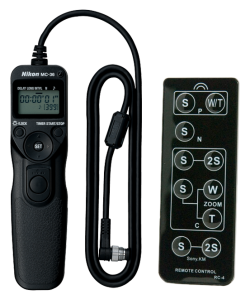Cable release with built-in intervalometer and infrared remote control